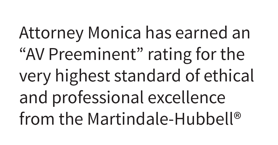 Martindale-Hubbell | AV Preeminent | Peer Rated for the Highest Level of Professional Excellence | 2017 - Linda A. Monica